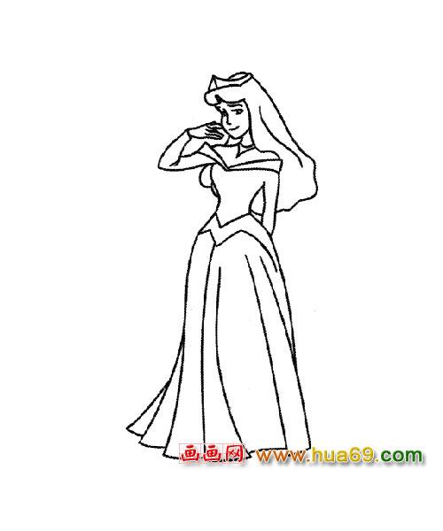 裙子礼服简笔画