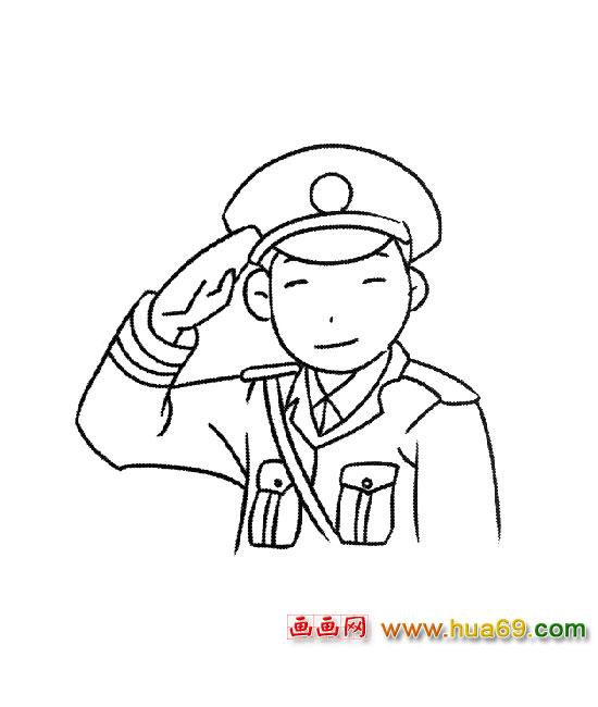 简笔画:中国警察1