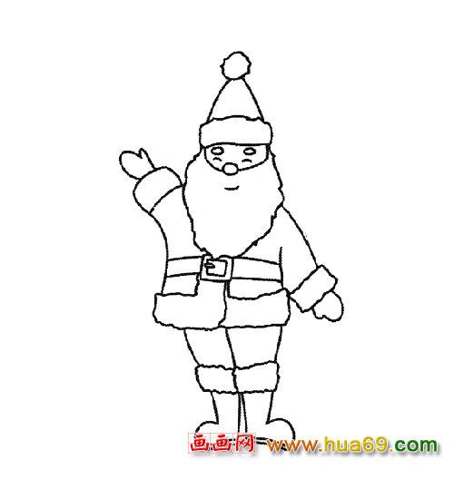简笔画 高兴的圣诞老人2