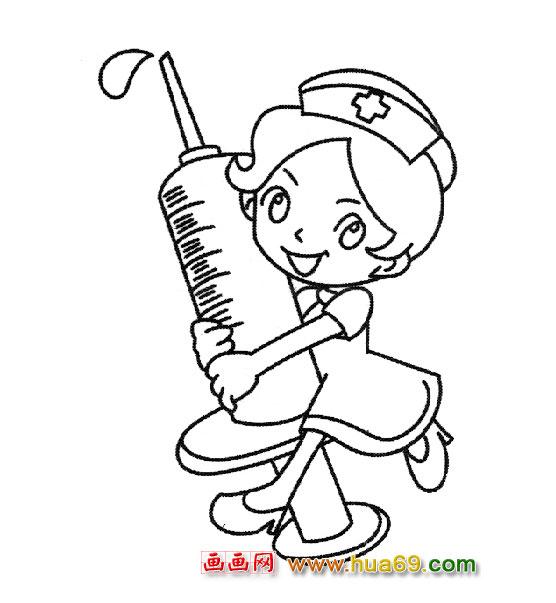 拿针管的医生【简笔画】2,画画网图片