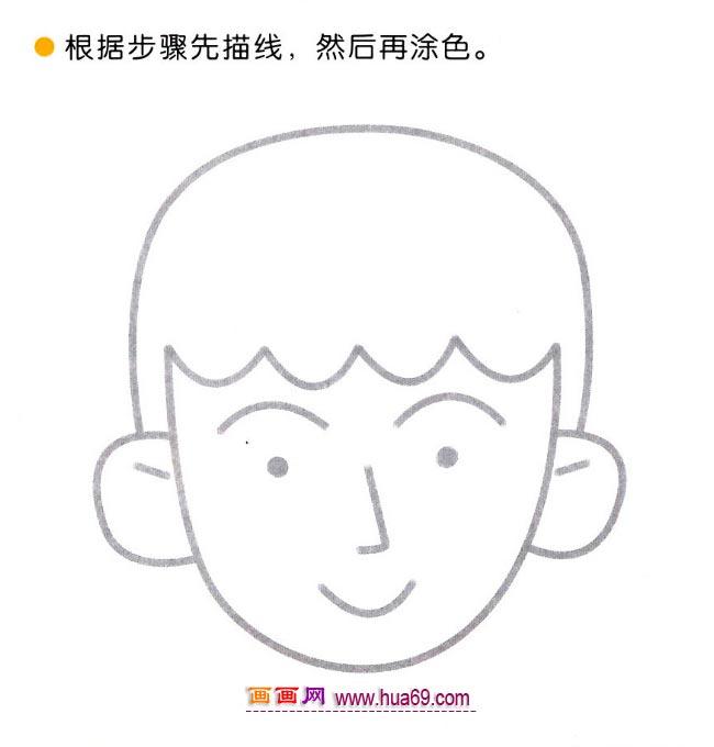 可爱的哥哥简笔画._幼儿简笔画画法