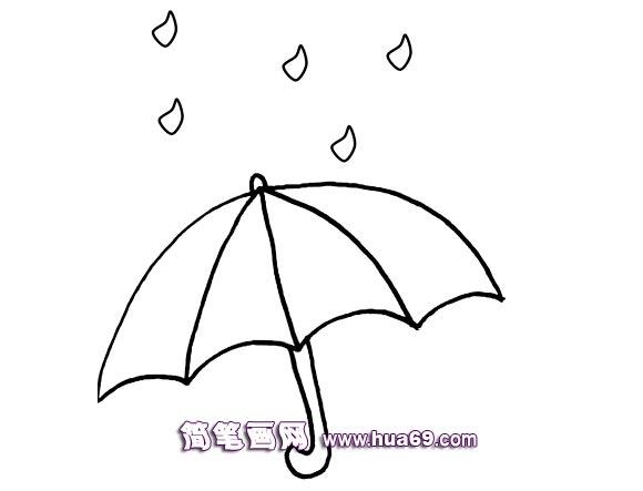 下雨的简笔画画法,画画网