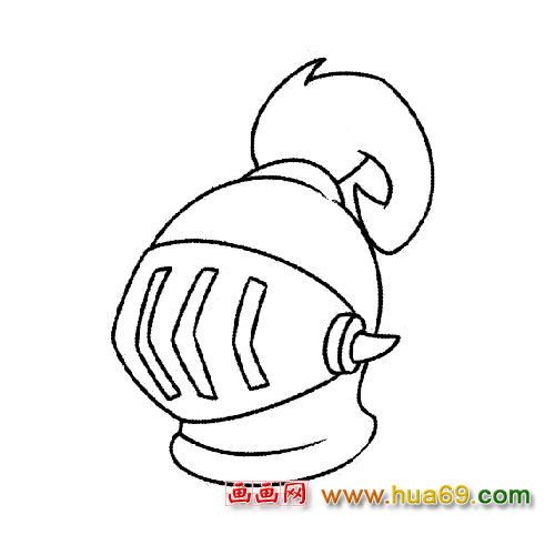 帽子简笔画 头盔2