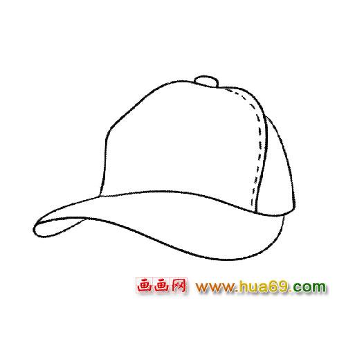 帽子简笔画 遮阳帽2
