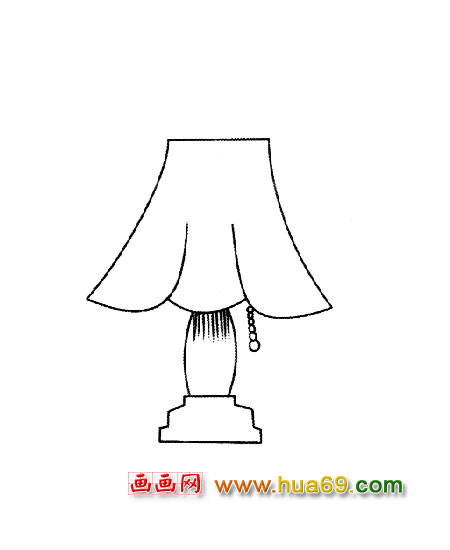 手绘台灯设计图