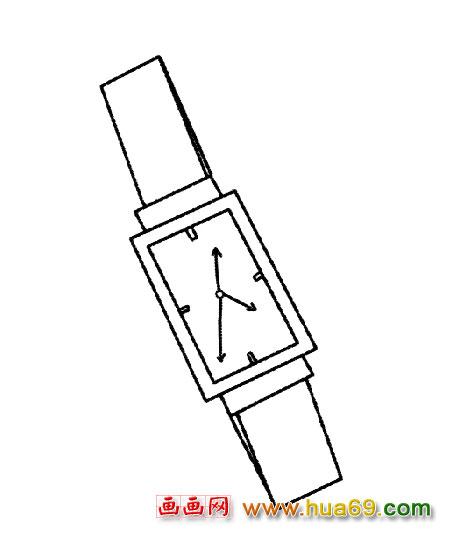简笔画│正方形手表1