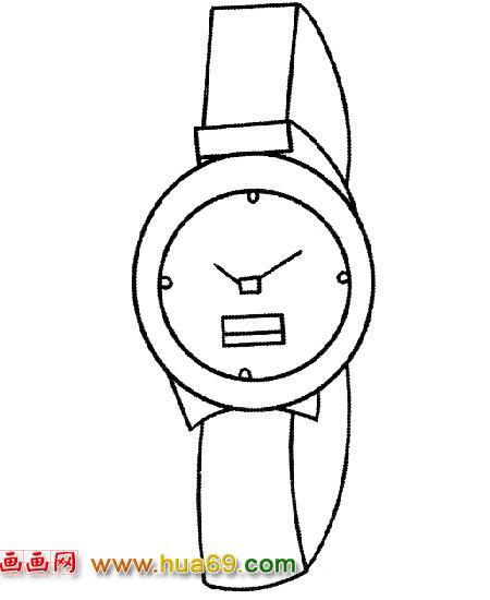 男式手表│简笔画2,画画网