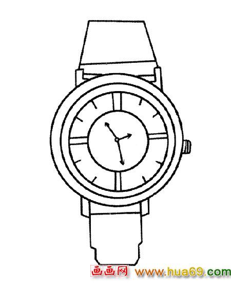 男式手表│简笔画1,画画网
