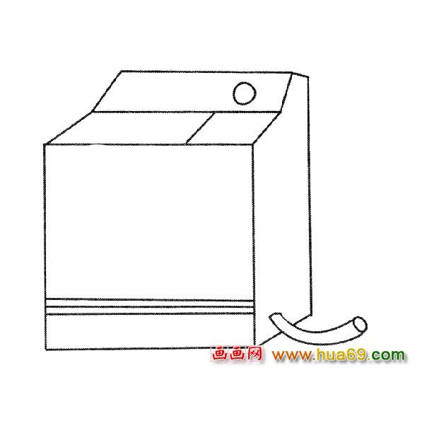 日用品简笔画│洗衣机3