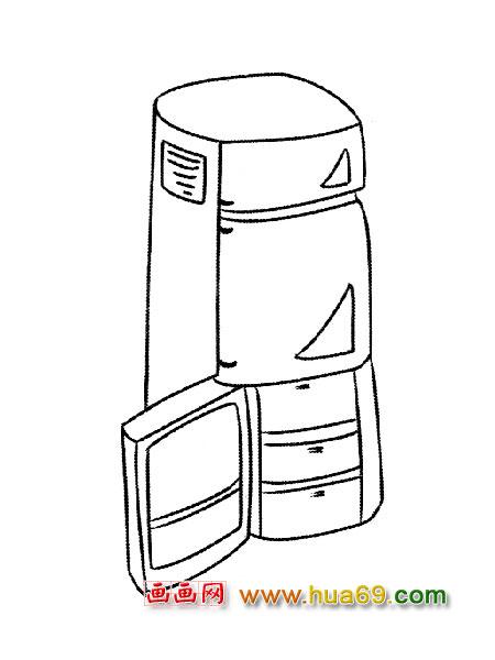 三开门冰箱 1,画画网