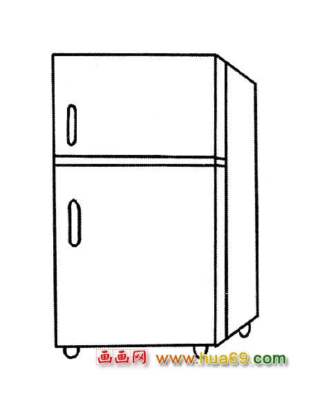 冰箱怎么画简笔画图片_cad冰箱怎么画