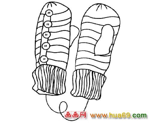 黑白线条儿童简笔画分享展示