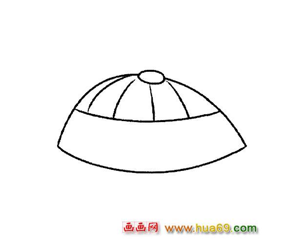 圆顶帽子_儿童简笔画,画画网
