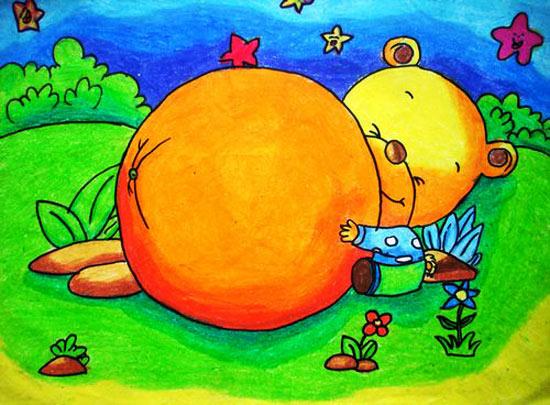 儿童彩笔画 丰收的季节