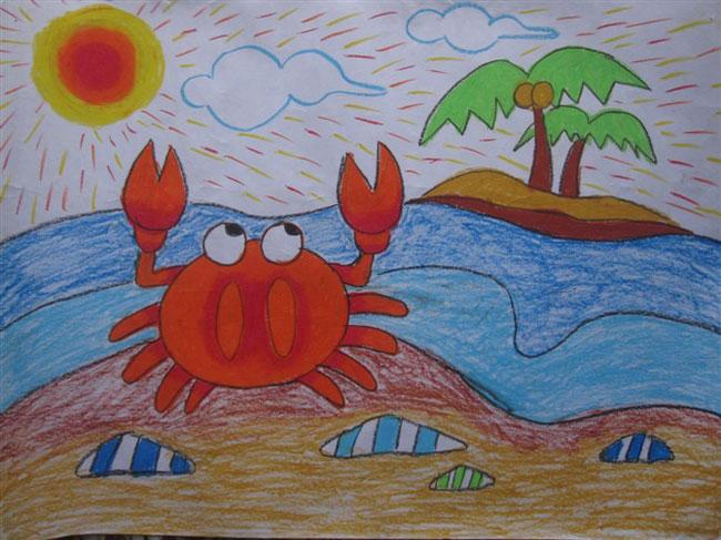 幼儿园宝宝画画图片