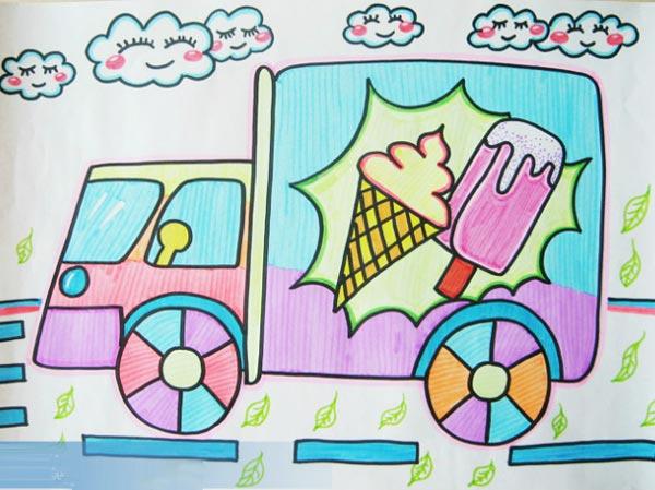 冰淇淋卡通简笔画