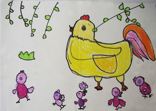 春天的景色儿童简笔画作品欣赏(6)_风景520