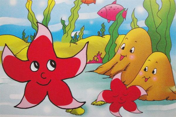 儿童彩笔画作品:海星宝宝