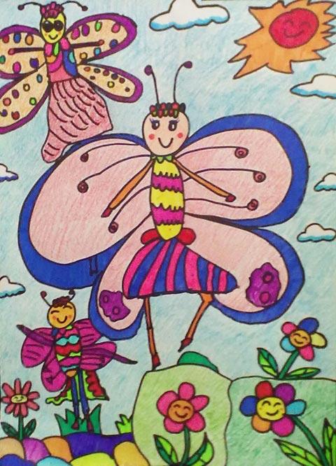 蜻蜓图画 荷花荷叶蜻蜓简笔画