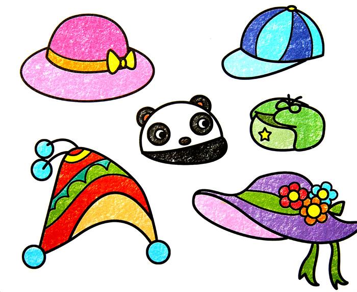 儿童彩笔画作品:帽子,画画网