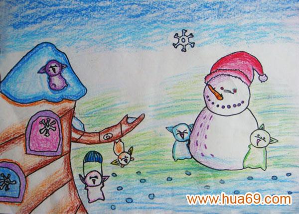 冬天的雪人怎么画内容冬天的雪人怎么画版面设计