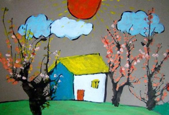 儿童画 水粉画 >> 正文    上一个图片: 儿童画水粉画作品:水墨荷花