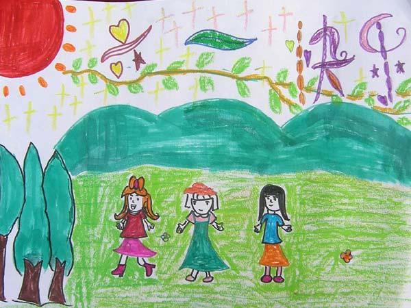 快乐六一简笔画-到野外树林里,用我的尼康d700