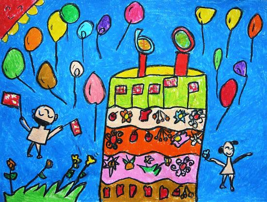 儿童画 彩笔画展示