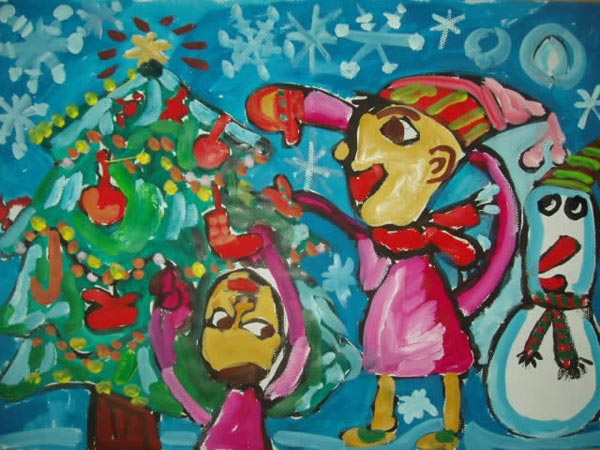 放飞梦想 儿童画水粉画作品 61幼儿网图片
