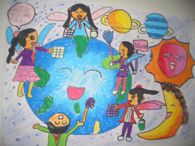 关于地球儿童图画内容|关于地球儿童图画版面设计
