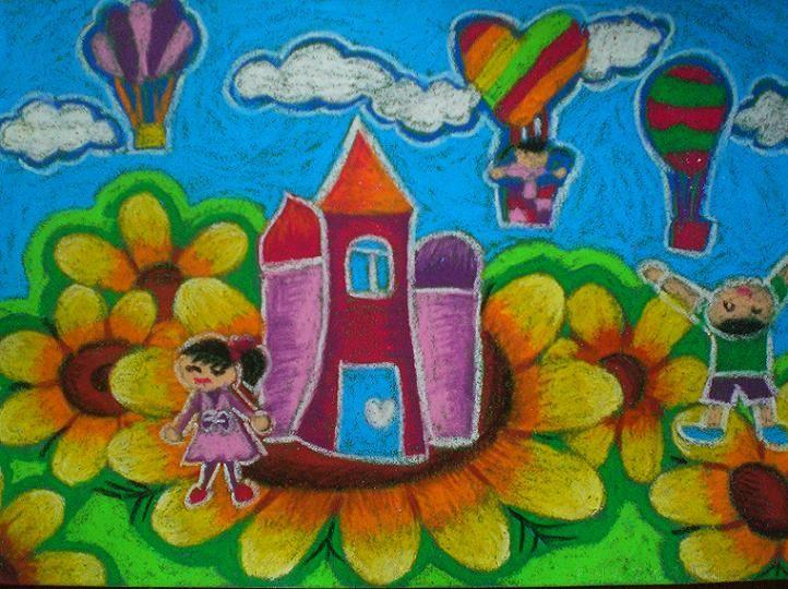 儿童水粉画图片:快乐宝