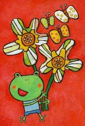 儿童彩笔画图片 青蛙王子