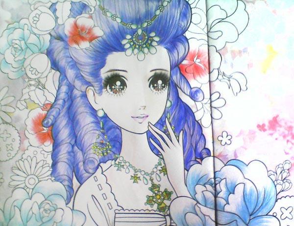 漂亮的女孩_儿童彩笔画作品,画画网