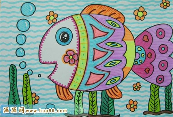 儿童彩笔画作