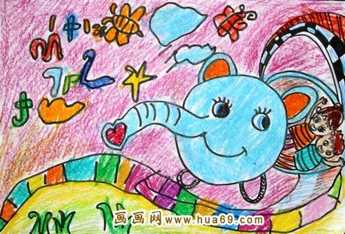 运动物小车_儿童彩笔画作品 下一个图片: 啄木鸟医生_儿童彩笔画作品