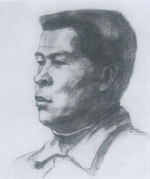 头像素描(男中年)写生的基本步骤和应试要领