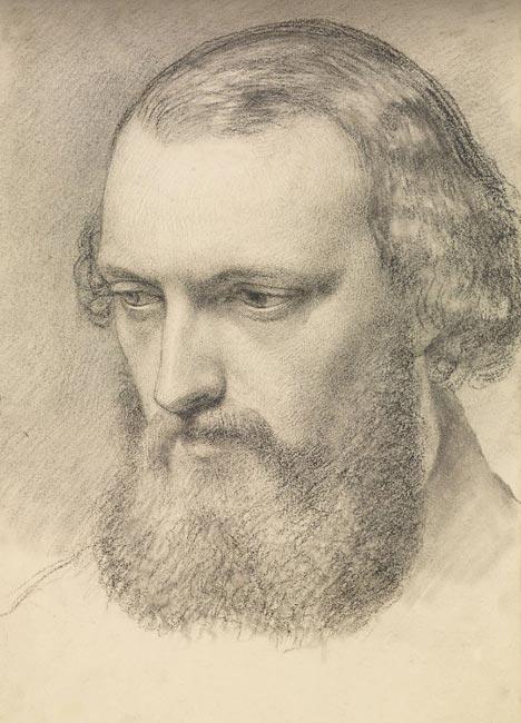 博物馆珍藏素描作品:外国男人侧面头像素描