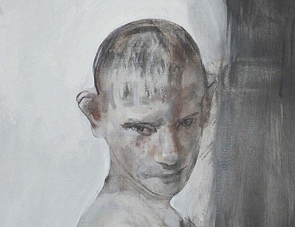 列兵美院素描作品:小男孩头像素描