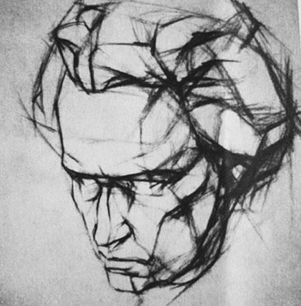是以分析,研究和表现雕像形体结构为目的,以结构造型的方法完成的写生