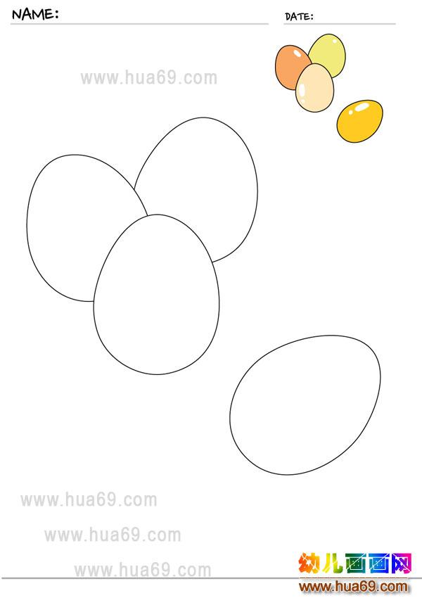 幼儿画画涂色卡:彩蛋│可打印涂色卡图片