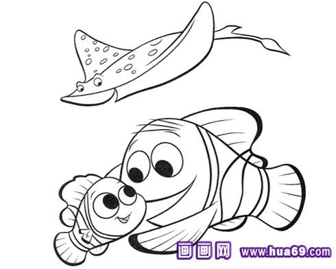 鱼妈妈和鱼宝宝简笔画1