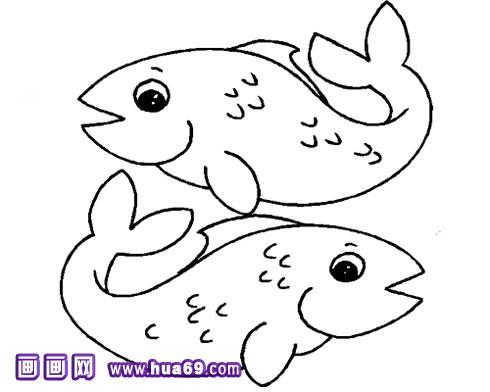 新年鲤鱼简笔画_鲤鱼简笔画图片大全_小鲤鱼简笔画