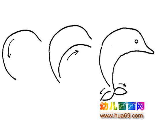 海豚简笔画的简单画法