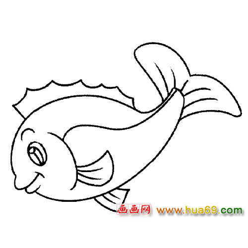 鱼类简笔画 微笑的鱼