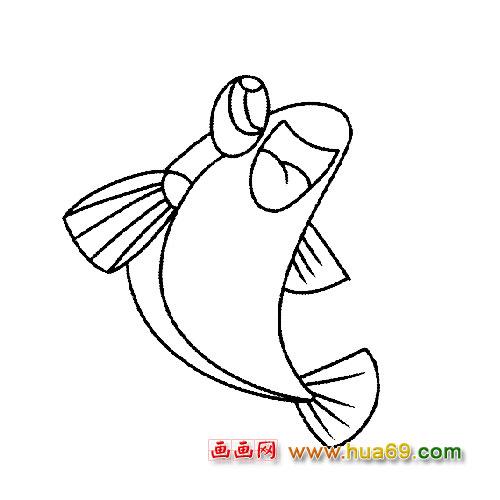 大海鱼类简笔画