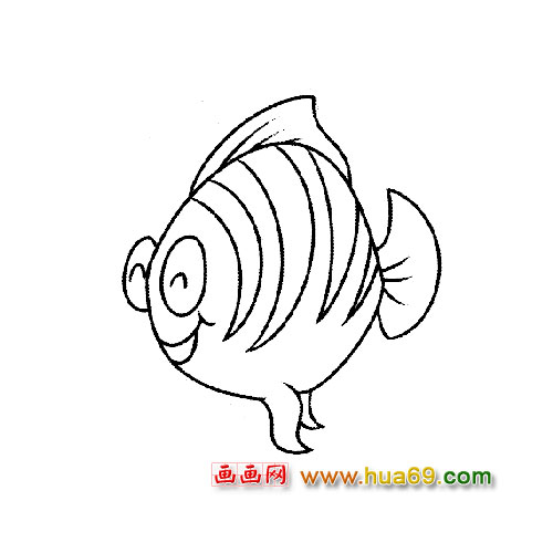 鱼缸的鱼简笔画内容图片展示
