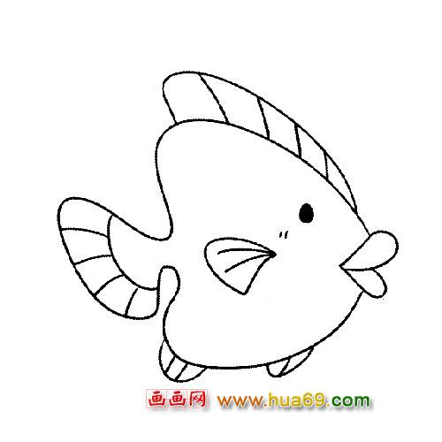 可爱小鱼简笔画