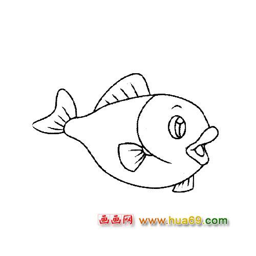 鱼的简笔画图片