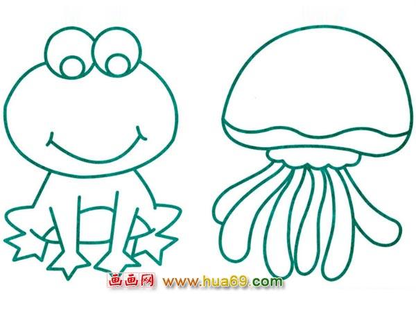 水生动物简笔画 青蛙2