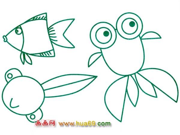 鱼的简笔画鱼的简笔画图片大全金鱼 鲤鱼的简笔